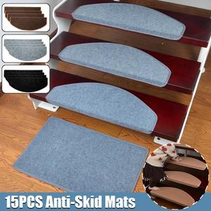 15pcs/Set Self-adhesive Stair Pads 65x24cm Anti-slip Rugs Carpet Mat Sticky Bottom Repeatedly-use Safety Pads Mat for Home
