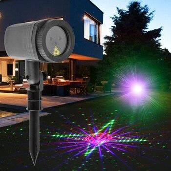 Wasserdicht Starry Sky Laser Projektor Langlebig Weihnachten Dekorative Licht mit Fernbedienung Im Freien Hof Rasen Lichter-in Outdoor-Landschaftsbeleuchtung aus Licht & Beleuchtung bei
