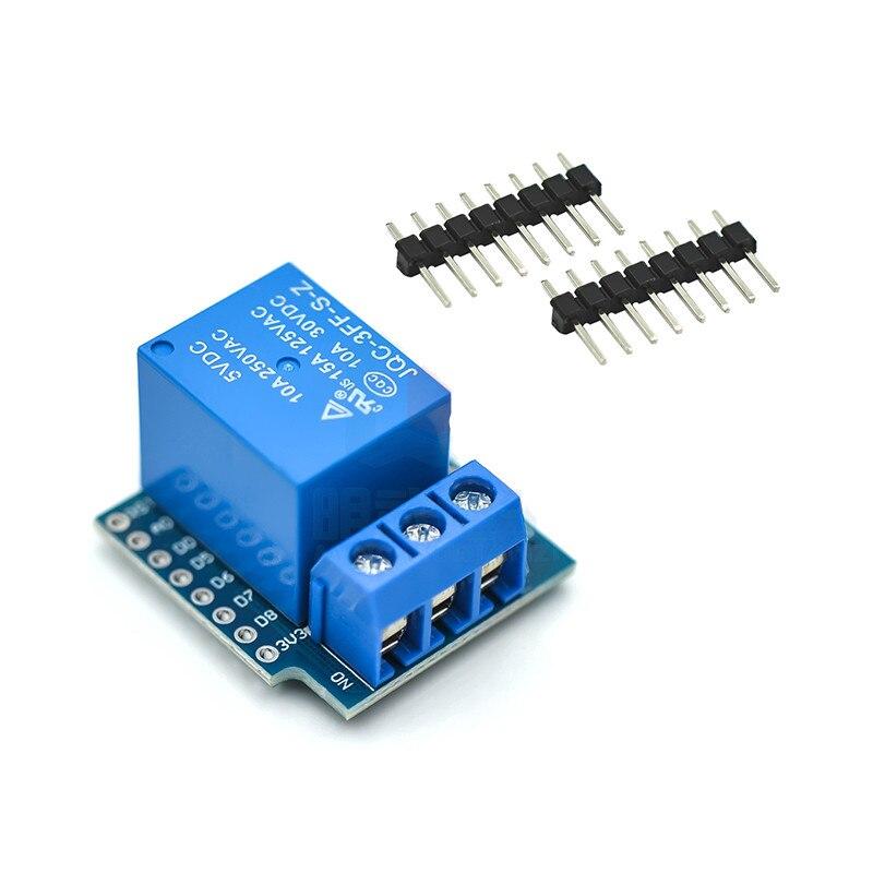 Один канал Wemos D1 мини-реле Щит Wemos D1 мини триггерный релейный модуль для ESP8266 макетная плата 1 канал