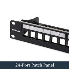 19 인치 24 포트 cat6 모듈러 패치 패널 포함. 24pcs rj45 공구가없는 키스톤 잭