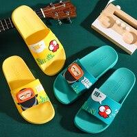 Été diapositives dessin animé femmes pantoufles mignon plage maison pantoufles sans lacet glisser sandales hommes chaussures Bothe tongs femmes chaussures