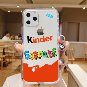 Candy Chocolate funnly cute Kinder Joy surprise egg For iPhone 11 Pro MAX Xs 8 7 6S Plus XS XR 5S Silicone phone Case coque etui(China)