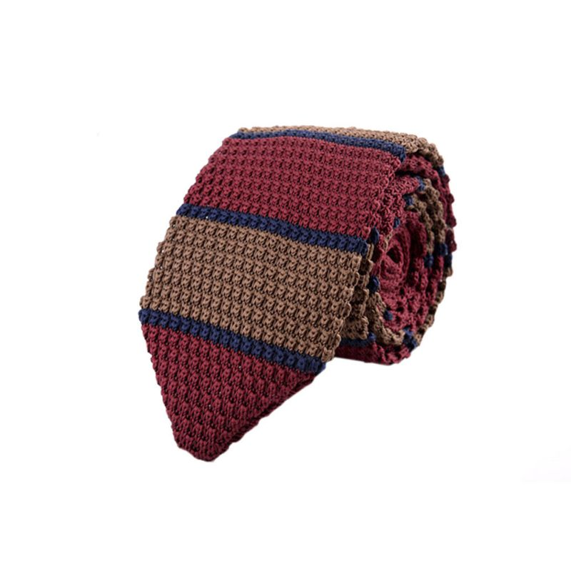 Colourful Men's Knit Tie Fashion Knitted Ties For Men Necktie Narrow Slim Woven Cravate Narrow Neckties