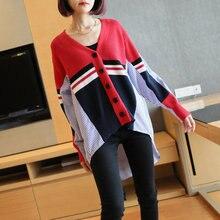 Осенний вязаный хлопковый кардиган свитера для женщин рубашка