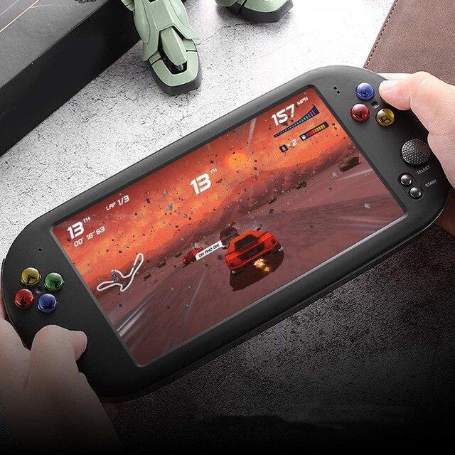 7.0 אינץ כף יד משחק נגן רטרו ארקייד X16 וידאו משחק קונסולת 16GB תמיכת HD טלוויזיה פלט נייד קונסולת משחקים 8 סימולטורים