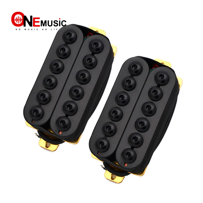 Adjustable Metal Double Coil Electric Guitar Pickups Humbucker Punk Black