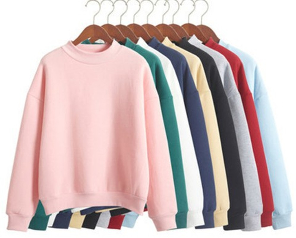Women Hoodies Sweatshirt Coat Pullover Fleece Cute 9-Colors Thick Winter M-XXL Knit Loose title=
