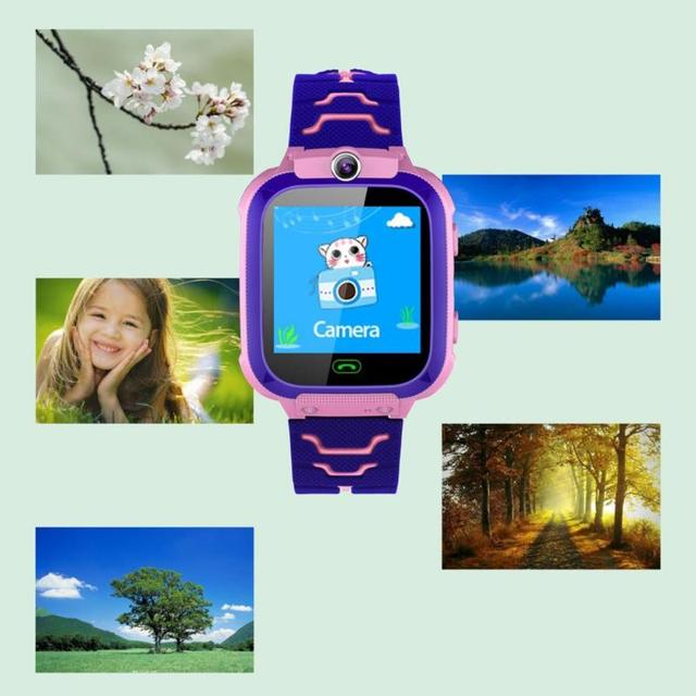 Children Smart Watch Camera Lighting Touch Screen SOS Call Touch Screen LBS Tracking Location Finder Kids Baby Smart Watch 4