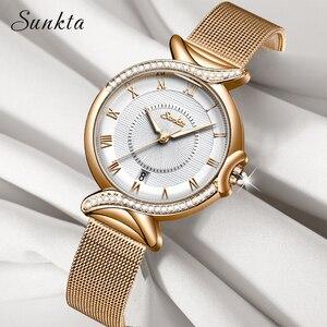 SUNKTA Women Watches Top Brand Luxury Ca