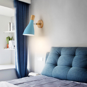 современная детская кровать | Светодиодный настенный светильник, регулируемый светильник для спальни, нордический настенный светильник, современные настенные светильн...