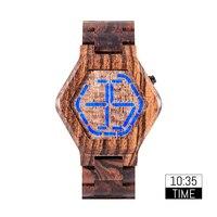 Bobo pássaro montre homme led relógios masculinos de madeira relógio digital men night vision calendário quartzo relógio de pulso mínimo tempo exibição|Relógios digitais|Relógios -