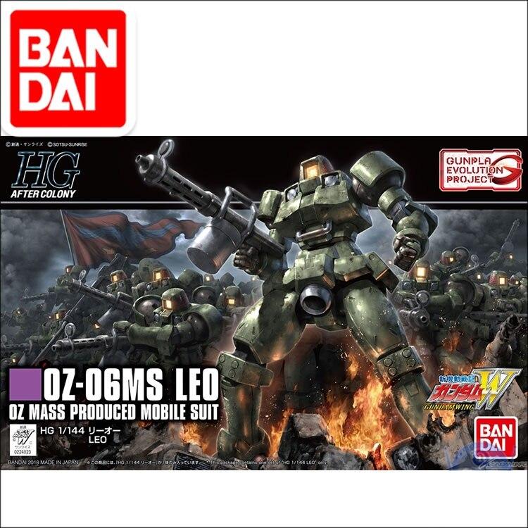 Original Japaness Gundam Model HG 1/144  GUNDAM  OZ-06MS LEO Mobile Suit Kids Toys