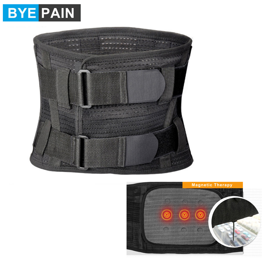 BYEPAIN Lumbar Lower Back Brace and Support Belt - for Men & Women Relieve Lower Back Pain with Sciatica, Scoliosis, Herniated