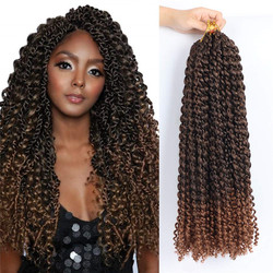 Kong&Li 18Inch Water Wave Passion Twist Hair Synthetic Crochet Braid Braiding Crochet Hair For Women