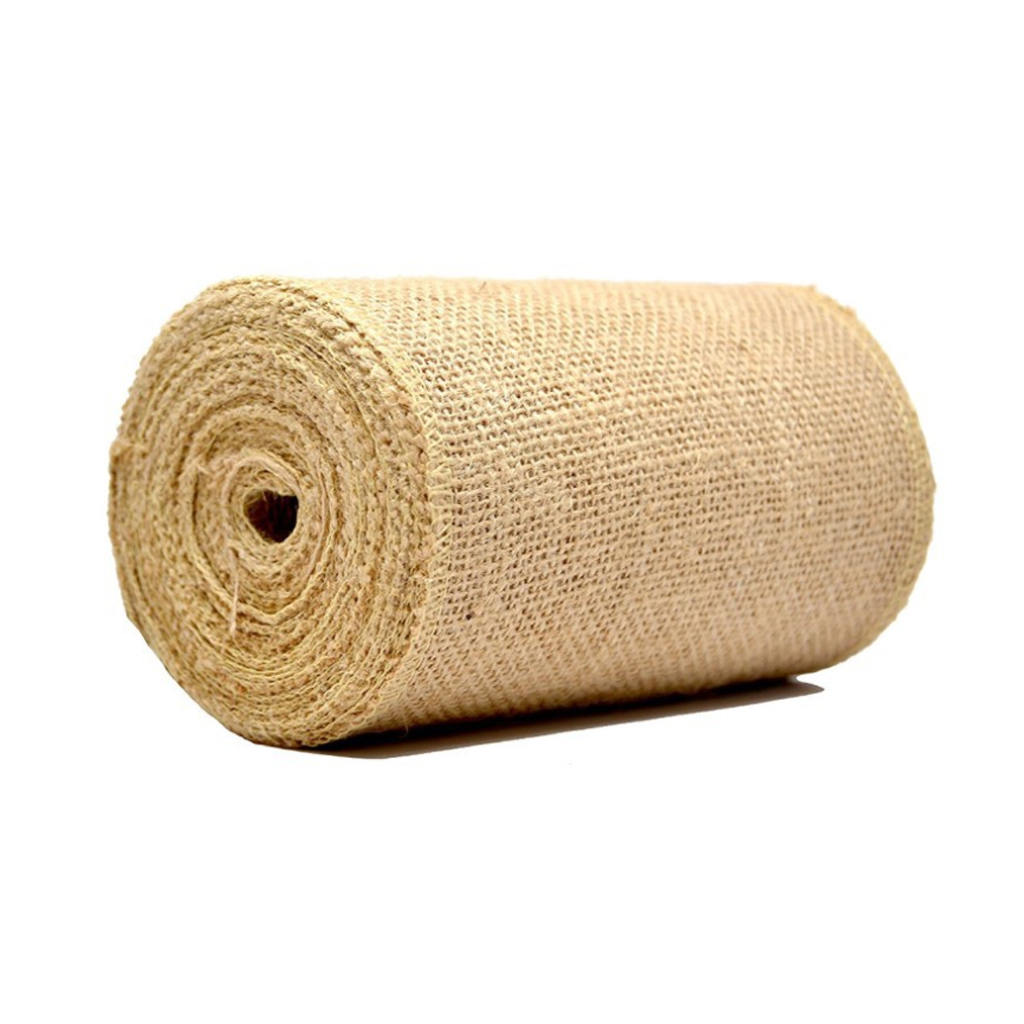 10m Table Runner Natural Jute Hessian Burlap Ribbon Garden Fabric Roll Xmas Christmas Table Runners Home Party Table Decoration