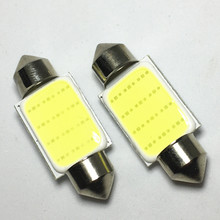 500pcs 31mm 36mm 39mm 42mm FESTOON 1 COB LED Auto Interior Dome Light License plate lamp Car White C5W Color LED Reading Lights