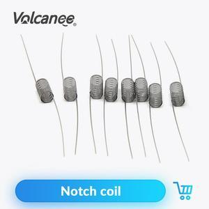 Image 1 - Нагревательная проволока из вулканической стали SS316L, 10 шт., готовые катушки, Ом, ядро для RDA, RBA, RTA, распылитель электронных сигарет