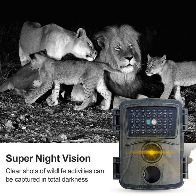 PR600 Hunting Camera 12MP 38 IR LED 3MP Color CMOS FHD 1080P Night Vision 0.8s Trigger Time Wildlife Cameras IP54 Waterproof New 3
