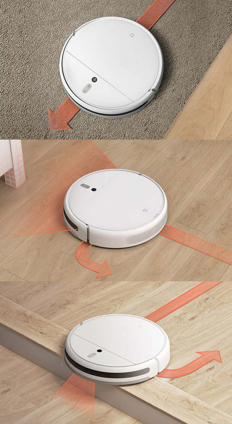 Hf3029e2b6ae34461a972d2bd5f91e50eG XIAOMI MIJIA Mi Sweeping Mopping Robot Vacuum Cleaner 1C for Home Auto Dust Sterilize 2500PA cyclone Suction Smart Planned WIFI