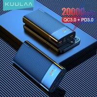 KUULAA Digital Display Power Bank 20000mAh QC PD 3.0 PoverBank Fast Charging PowerBank 20000 mAh USB External Battery Charger