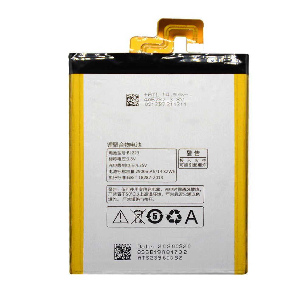 แบตเตอรี่สำหรับ Lenovo VIBE Z2 Pro K920 K80 K80M K7 Original BL223 คุณภาพสูง 2900mAh แบตเตอรี่โทรศัพท์มือถือ Accumulator