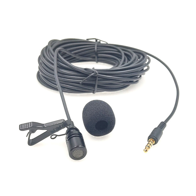 10M Mở Rộng Cáp Lavalier Microphone Ngoài Trời Trực Tiếp Phát Sóng Micro Cổ Áo, Mic Cho Bộ Khuếch Đại Điện Thoại Di Động