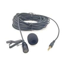 10m genişletilmiş kablo yaka mikrofonu açık canlı yayın mikrofon yaka klip mikrofon amplifikatör cep telefonu