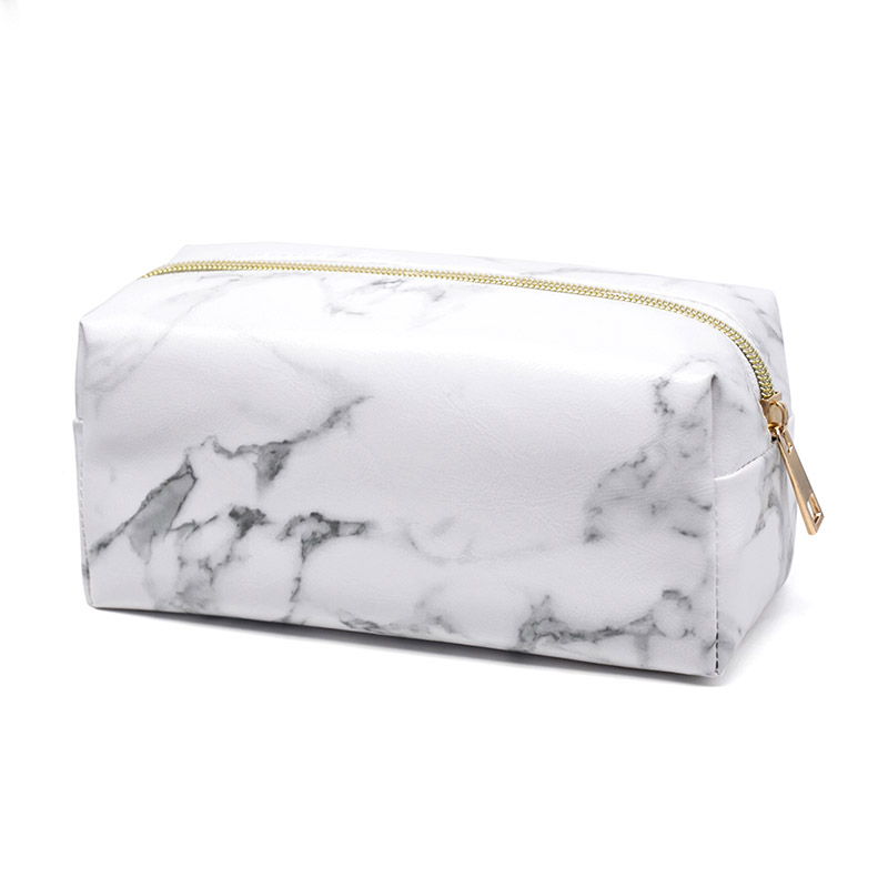 Marble Print Waterproof Cosmetic Bag Women Travel Make Up Organizer Bag Small Zipper Pouch Toiletry Case Storage For Makeup
