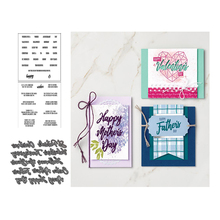 JCarter Metal Cutting Dies and Clear Stamps for Scrapbooking Craft Happy Days Letter Die Cut Stencil Card Make Album Sheet Decor