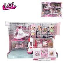 Оригинальный сюрприз ЛОЛ куклы вертолет игрушечный автомобиль для пикника с мебелью дом действие куклы рисунок игрушки для девочки день рождения подарки