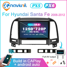 Car-Radio Santa-Fe Auto Hyundai Android-10 Audio-Screen Multimedia Gps Navigation Bluetooth