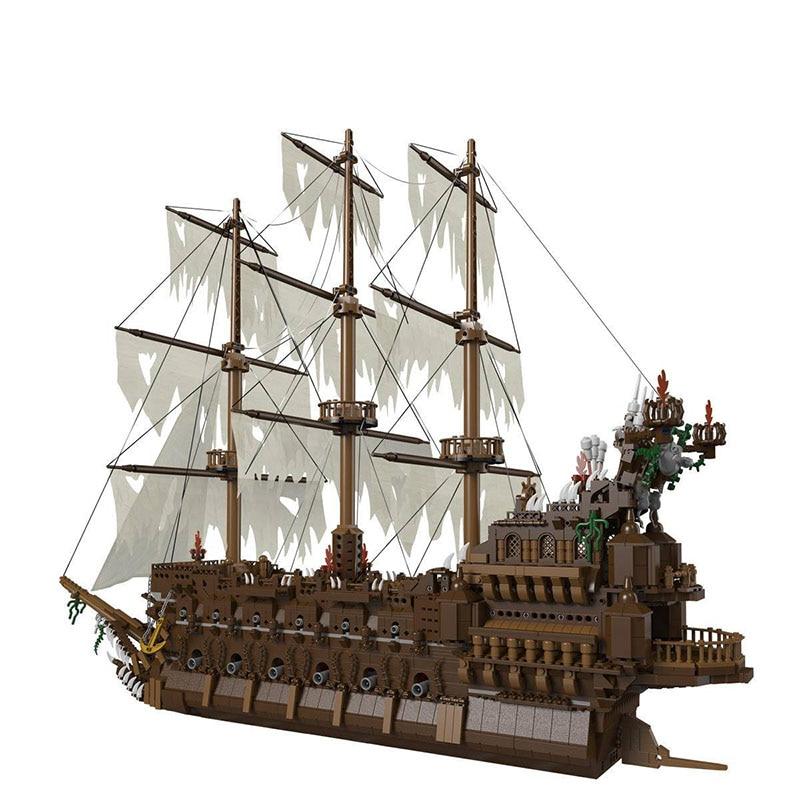 Pirates Ship Of The Caribbean Flying Dutchman Building Blocks Set Imperial Flagship Kids Toys Gift King Bricks Blocks 16016