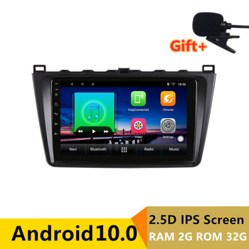 "9"" 2.5D IPS Android 10.0 Car DVD Multimedia Player GPS for Mazda 6 Ruiyi Ultra 2009-2011-2015 audio car radio stereo navigation"