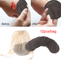 12Pcs Cotton Pad Makeup Removal Cleansing Bamboo Fiber Reusable Washable Rounds Pads Face Wipes Skin Care Tool 3
