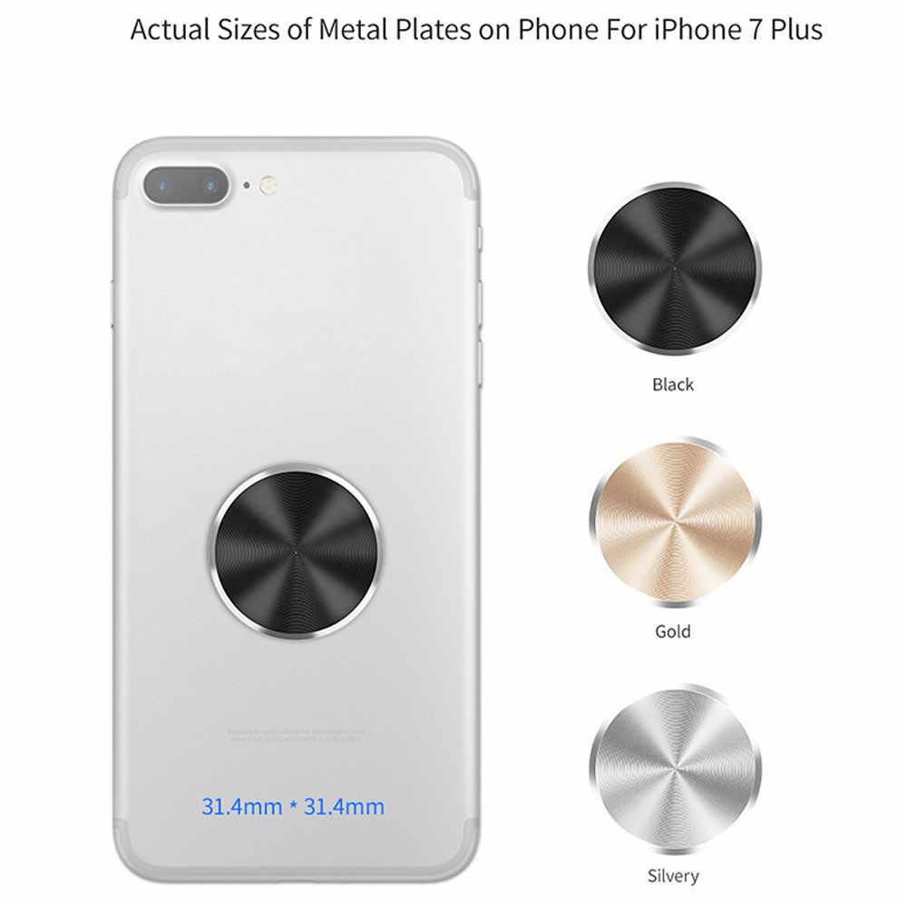 Suporte do telefone do carro de metal placa adesivo substituir para magnético carro montar suporte do telefone suporte de condução ímã dashboard 30