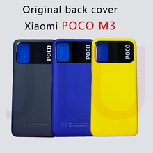 OriginalสำหรับXiaomi Poco M3แบตเตอรี่ด้านหลังประตูด้านหลังกรณีPOCO M3แผงด้านหลังPowerปริมาณด้านข้างปุ่มเปลี่ยน