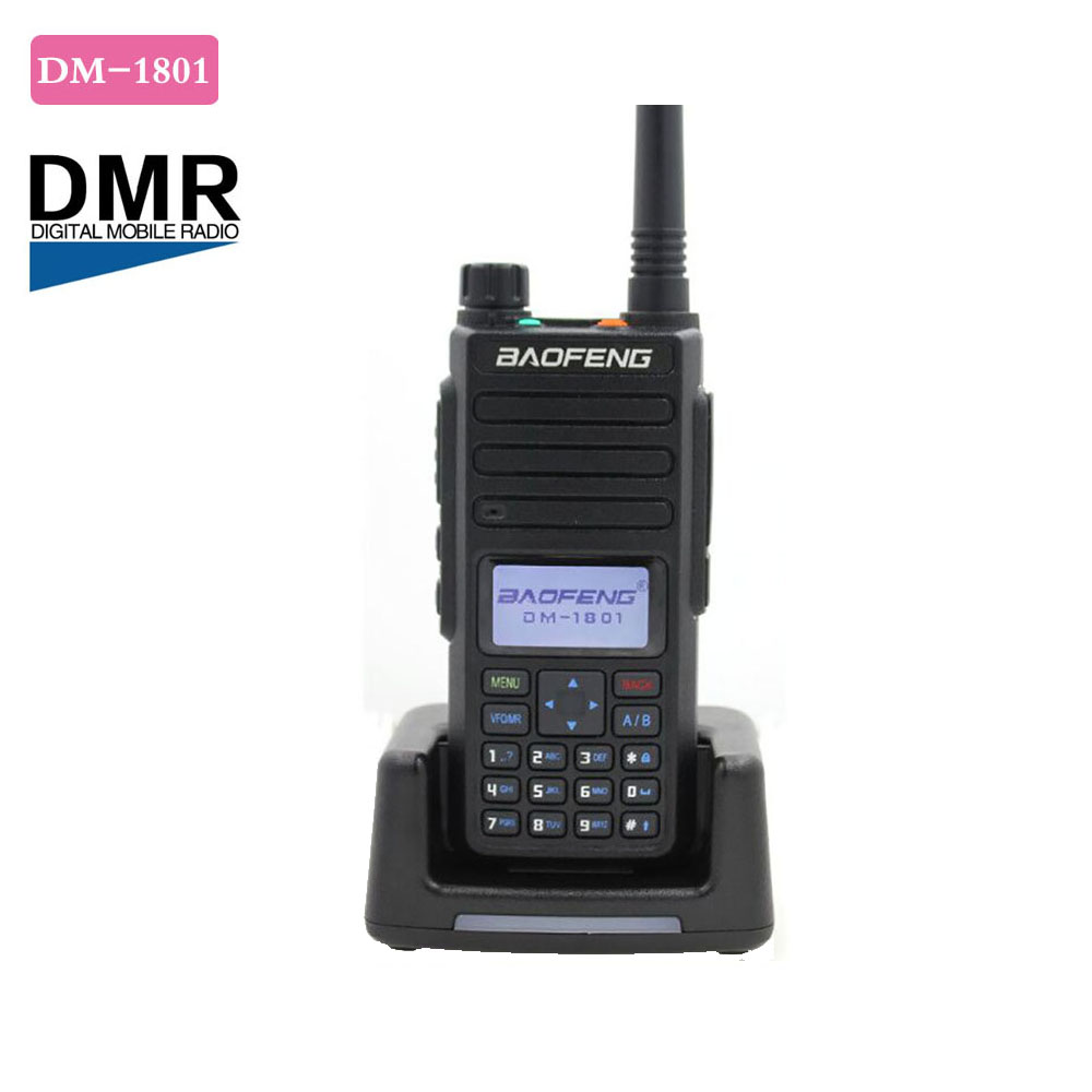 New Baofeng DM-1801 Tier 1+2 Dual Time Slot Walkie Talkie UV Dual Band 136-174 & 400-470MHz DMR Digital Radio