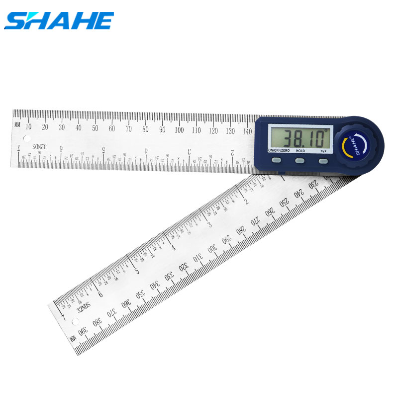 Shahe 200mm Electronic Protractor Stainless Steel Digital Angle Ruler Inclinometer Angle Finder Digital Angle Gauge