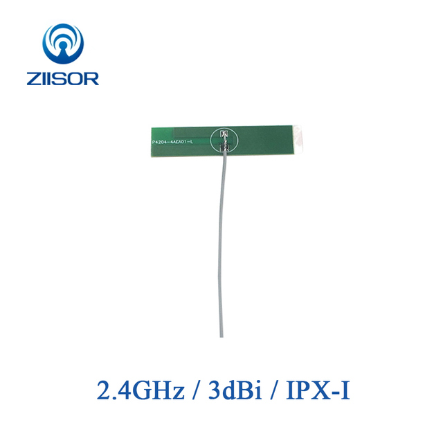 5pcs 2.4GHz เสาอากาศ WiFi ภายใน 2.4G PCB เสาอากาศ IPX IPEX โมดูลไร้สายบลูทูธ DTU Antena ในตัว aerial TX2400 PCB 4811