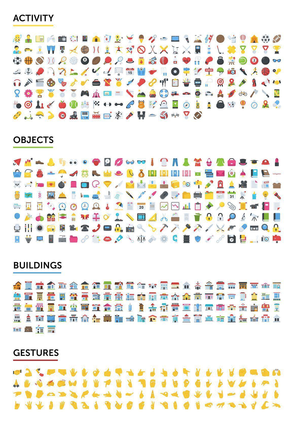 矢量图形-2500个表情符号emoji图标合集打包下载 格式AI,EPS,SVG,PNG,PDF,JPG(5)