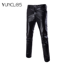 Yunclos Men's Casual Pants Bright gilded slacks Wedding &Party  trousers  Slim Fashion Size M-6XL