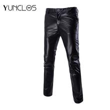 Yunclos Men's Casual Pants Bright gilded slacks Wedding &Party  trousers Slim Fashion Size M-6XL