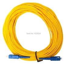 משלוח חינם SM SX 3mm 20M 9/125um סיבים אופטי כבל מגשר SC/UPC SC/UPC סיבים אופטי תיקון
