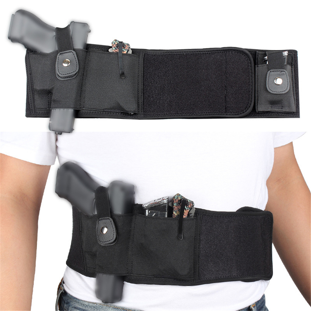 39 Inch Tactical Belly Band Elastic Pistol Holster Concealed Carry Fit Glock 19 Beretta 1911 Gun Holster