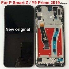 Ban Đầu Đen 6.59 Inch Cho Huawei Y9 Prime 2019/ P Smart Z STK LX1 Màn Hình Hiển Thị LCD Bộ Số Hóa Cảm Ứng các Bộ Phận Có Khung