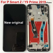 Nero originale 6.59 pollici Per trasporto libero di Huawei Y9 Prime 2019/ P di smart Z STK LX1 Display LCD Touch Screen Digitizer Assembly parti con telaio