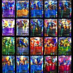 25 50 шт 100 шт 200 шт GX Мега Сияющие карты игра битва карт торговые карты игра детская игрушка «Покемон»