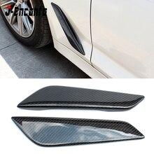 G30 G38 araba Styling karbon Fiber çamurluk havalandırma Trim BMW 5 serisi için G30 G38 2017 2018 2019 otomotiv dış parçaları aksesuarları
