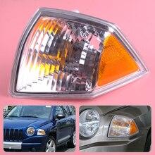 Beler lewa strona kierowcy przód Turn Signal światła parkingowe lampa narożna obudowa pasuje do Jeep Compass 2007 2008 2009 2010