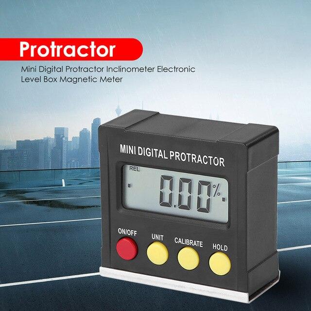 אופקי זווית מד זוית Inclinometer אלקטרוני רמת תיבת מגנטי בסיס מדידת כלים